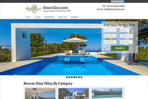 Screenshot of the Ibiza Villas Website