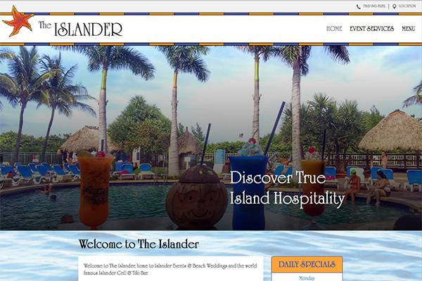 Screenshot of the The Islander Website