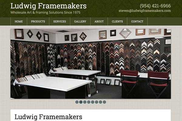 Screenshot of the Ludwig Frame Makers Website
