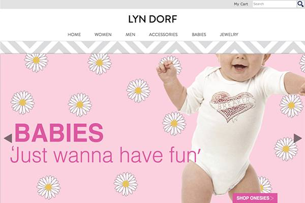 Screenshot of the Lyn Dorf Website