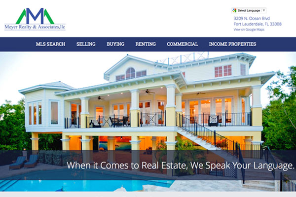 Screenshot of the Meyer Realty and Associates Website